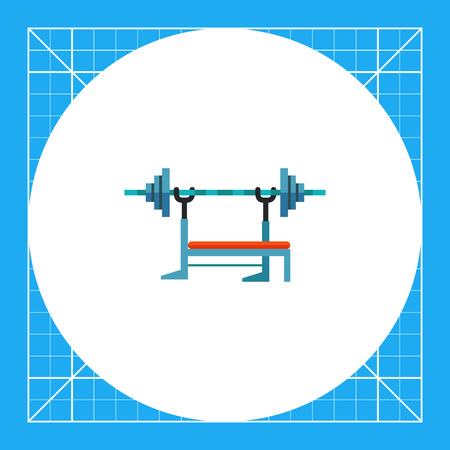 weight machine: Barbell machine, equipment used in weight training. Exercising, muscles, equipment. Athletic bench concept. Can be used for topics like sport, health, bodybuilding.