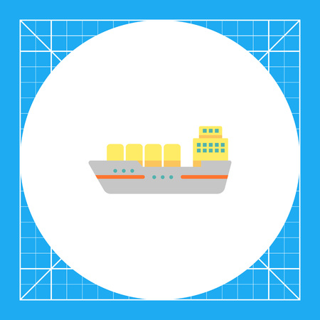 shipbuilding: Cargo ship icon