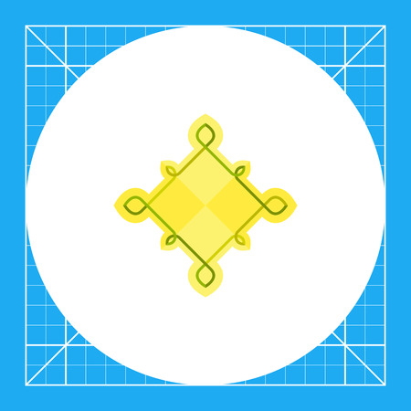rhomb: Multicolored icon of Celtic knots of rhomb shape