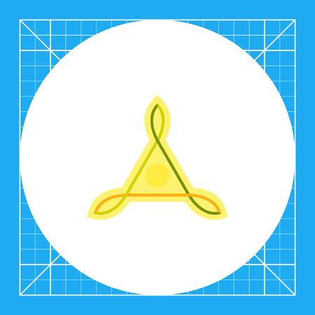obody: Multicolored icon of Celtic knots of triangle shape