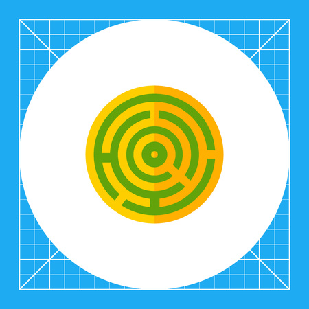 objection: Round maze. Game, puzzle, solving. Challenge concept. Can be used for topics like business, management, banking, finance, analysis, games.