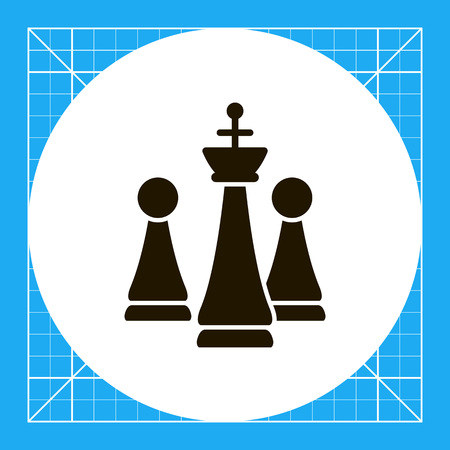 pawns: Icon of chess king and pawns