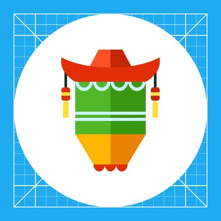 green lantern: Multicolored vector icon of Chinese New Year lantern