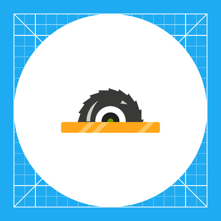 Multicolored vector icon of circular saw