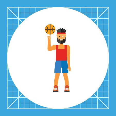 Illustration of basketball player spinning ball Illustration