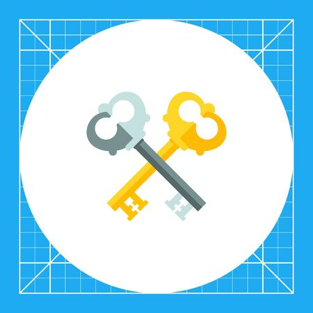 locking: Two crossed keys. Protection, locking, ancient. Key concept. Can be used for topics like finance, technology, marketing.