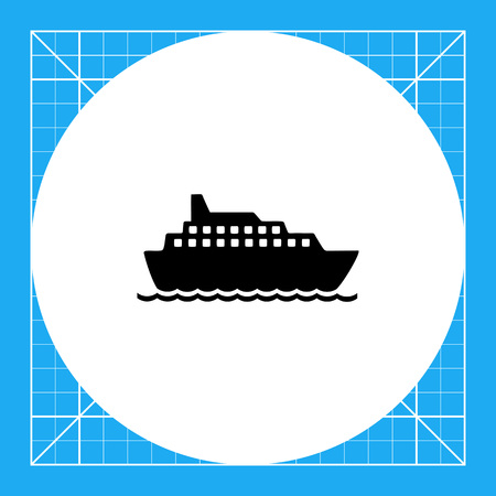 to spend the summer: Big cruise liner floating on sea surface. Summer, sea, travelling. Ship concept. Can be used for topics like vacation, transport, tourism.