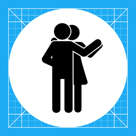 Illustration of dancing couple. Leisure activity, dancers, having fun. Dancing concept. Can be used for leisure activities, dancing sport, competition