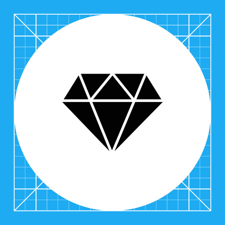 Vector icon of diamond with round cut Illustration