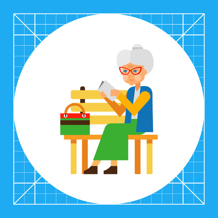 old people reading: Elderly woman sitting alone in park. Loneliness, age, old, people, reading. Loneliness concept. Can be used for topics like old people, loneliness, age