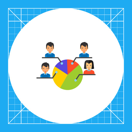 electors: Pie chart with male and female electors. Choice, percent, candidate. Electorate concept. Can be used for topics like politics, democracy, sociology.
