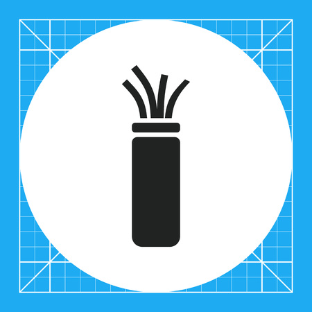 mains: Electric cable icon Illustration