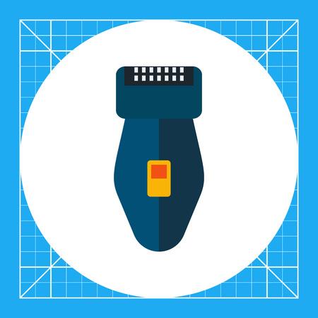 shaver: Multicolored vector icon of foil electric shaver