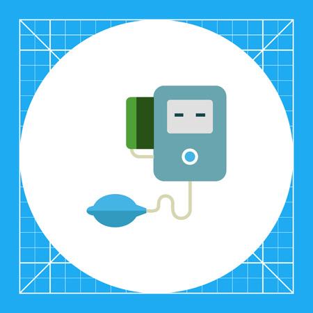 tonometer: Multicolored vector icon of medical electronic tonometer Illustration