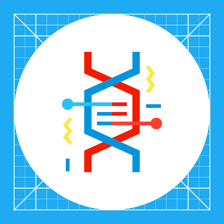 Illustration of DNA fragment. Genetics, molecule, genome, cell. Genetics concept. Can be used for topics like genome, science, anatome, knowledge