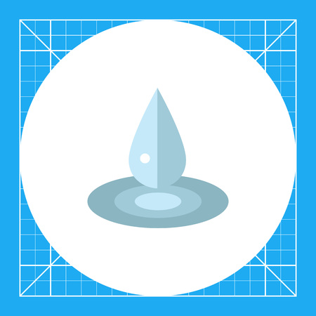 Multicolored vector icon of liquid drop and puddle