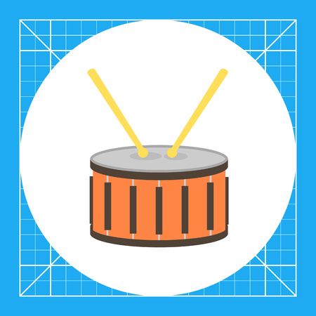 Icon of drum with two drumsticks Illustration