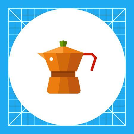 Multicolored vector icon of metal jar coffee maker Illustration
