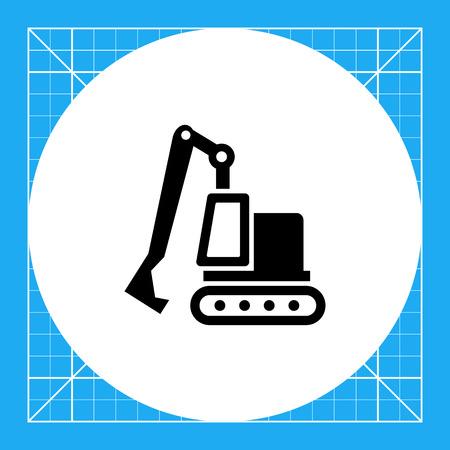 excavating: Excavator icon