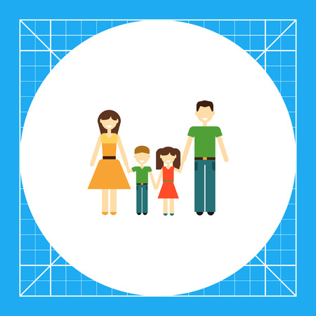 Icon of traditional family consisting of man, woman and two children