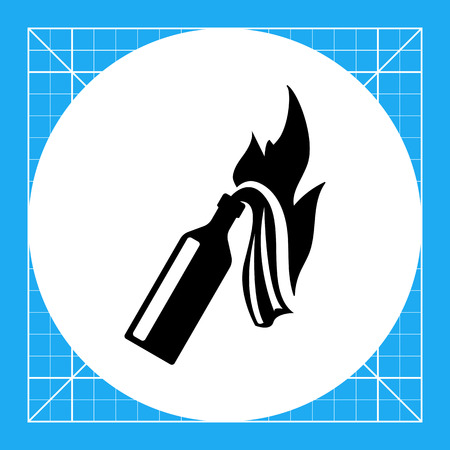 rebellion: Molotov cocktail. Danger, threat, violence. Weapon concept. Can be used for topics like terrorism, war, technology. Illustration