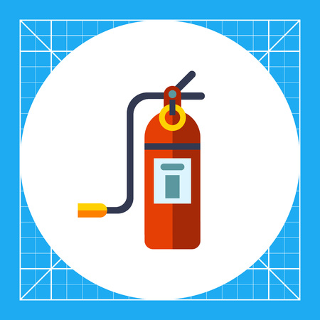 extinguishing: Multicolored vector icon of closed fire extinguisher