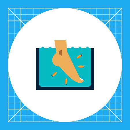 Multicolored vector icon of Garra Rufa fish peeling Stock Illustratie