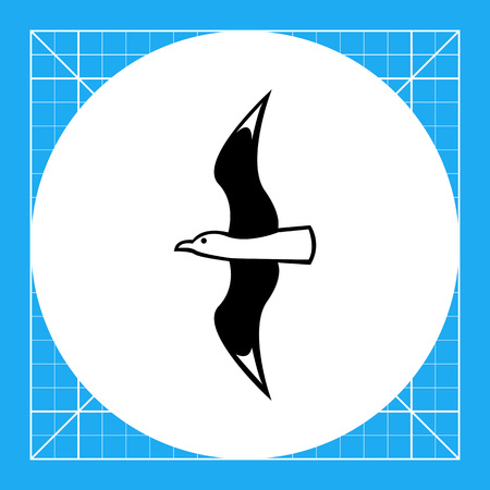 Flying seagull. Summer, sea, freedom. Bird concept. Can be used for topics like zoology, vacation, tourism. Illustration