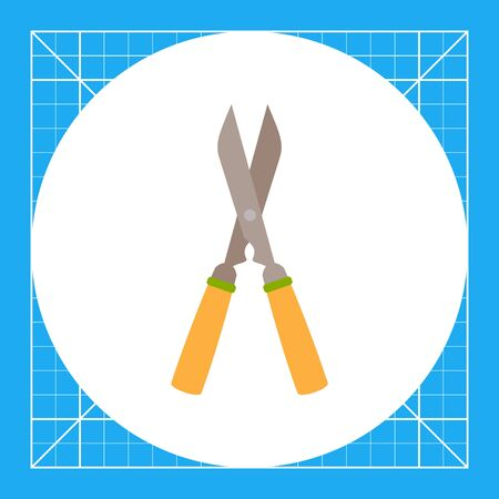 pruning: Vector icon of with wooden handles