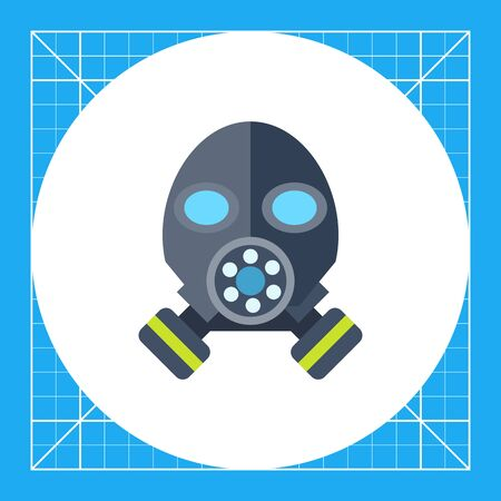 army gas mask: Multicolored vector icon of gas mask, front view Illustration