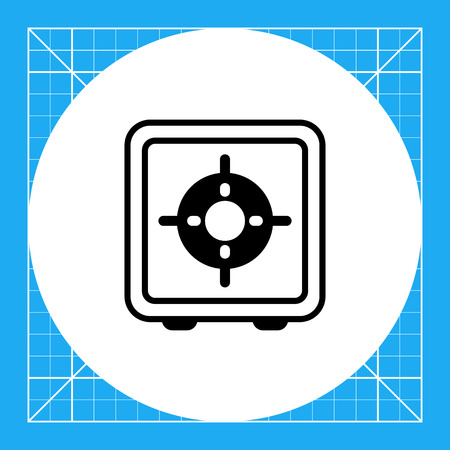 flammable: Icon of gas burner, top view Illustration