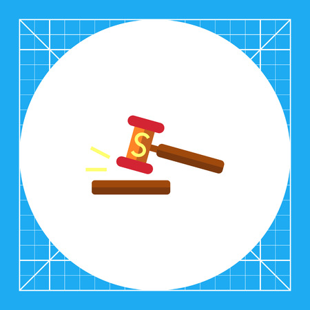 Icon of gavel with S letter Illustration
