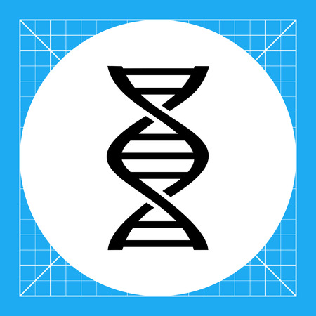 dna sequencing: Monochrome vector icon of DNA fragment representing genetics concept