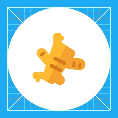 Multicolored vector icon of ginger root piece