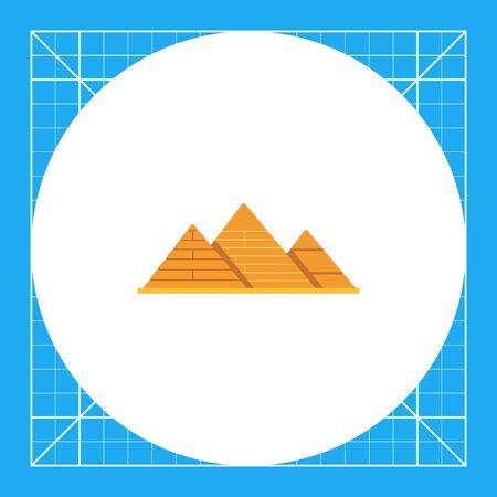 grave stone: Giza pyramids icon Illustration