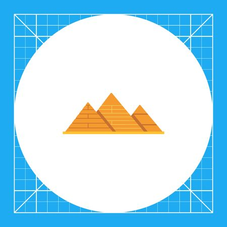 Giza pyramids icon Illustration