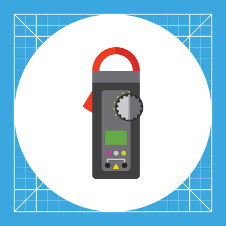 accuracy: Digital clamp meter. Equipment, accuracy, voltage. Measurement concept. Can be used for topics like electricity, electronics, technology.