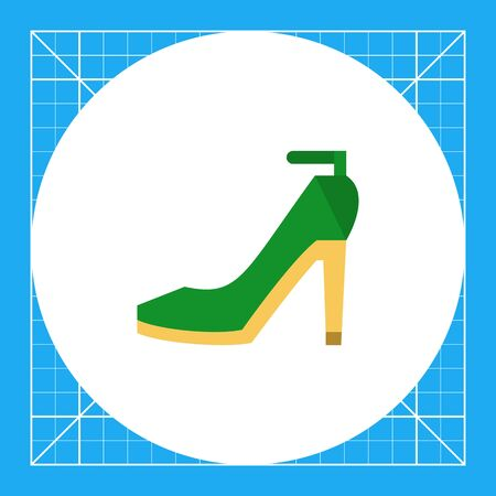Multicolored vector icon of green high-heeled shoes