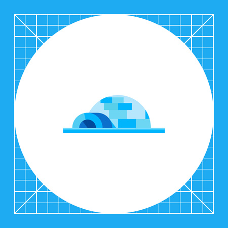 Igloo, spherical Eskimo snow house. Snow, cold, house. Igloo concept. Can be used for topics like culture, north, marketing. Illustration