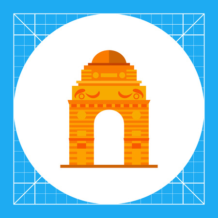 Indian gate. Landmark, traditional, building. India concept. Can be used for topics like culture, architecture, history.