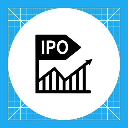 initial public offerings: Initial public offer. Offering, stock market, investment, share. Stock market concept. Can be used for topics like business, company, investment, market, securities