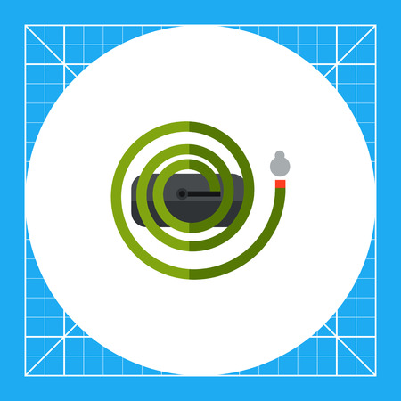 Multicolored vector icon of long irrigation hose