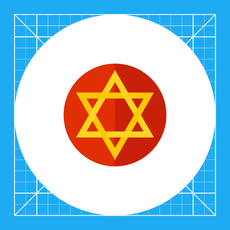 Judaism star in circle. Symbol, Israel, traditional. Judaism concept. Can be used for topics like judaism, religions, history.