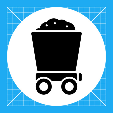 loaded: Icon of loaded wagon Illustration