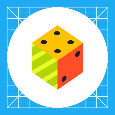 logic: Illustration of 3d dice. Logic, science, education. Logic concept. Can be used for topics like education, science of logic, knowledge Illustration