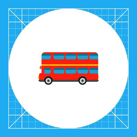 Red double-decker bus. Traditional, city, public. London bus concept. Can be used for topics like England, history, transport.