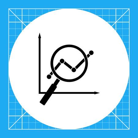 Graph viewed through loupe. Search engine optimization, digital marketing, Internet. SEO concept. Can be used for topics like SEO, digital marketing, Internet, optimization