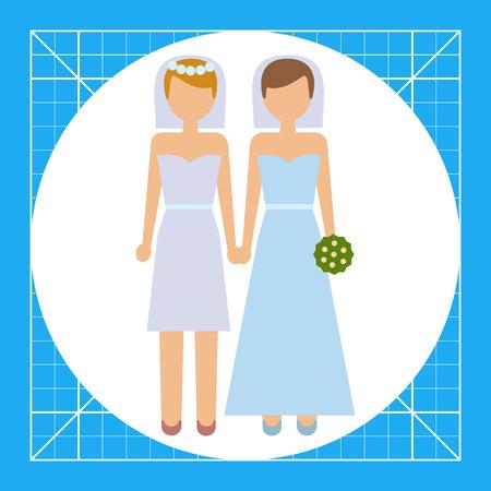 Icon of two brides Illustration