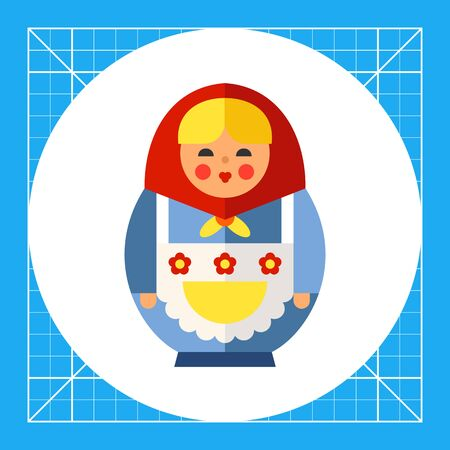 former: Multicolored vector icon of Russian doll matryoshka Illustration