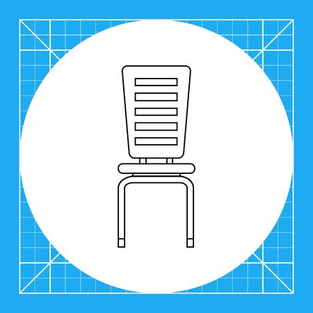 piece of furniture: Modern chair. Domestic, comfort, decorative. Seat concept. Can be used for topics like furniture, interior, fashion.